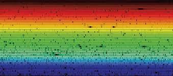 Resultado de imagem para espectro solar wikipédia. Espectro visível (ou espectro óptico) é a porção do espectro eletromagnético cuja radiação é composta por fótons capazes de sensibilizar o olho humano de uma pessoa normal. Identifica-se a correspondente faixa de radiação por luz visível, ou simplesmente luz.
