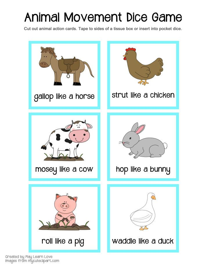 farm animal gross motor game printable from play learn love preschool ideas gymnastics. Black Bedroom Furniture Sets. Home Design Ideas