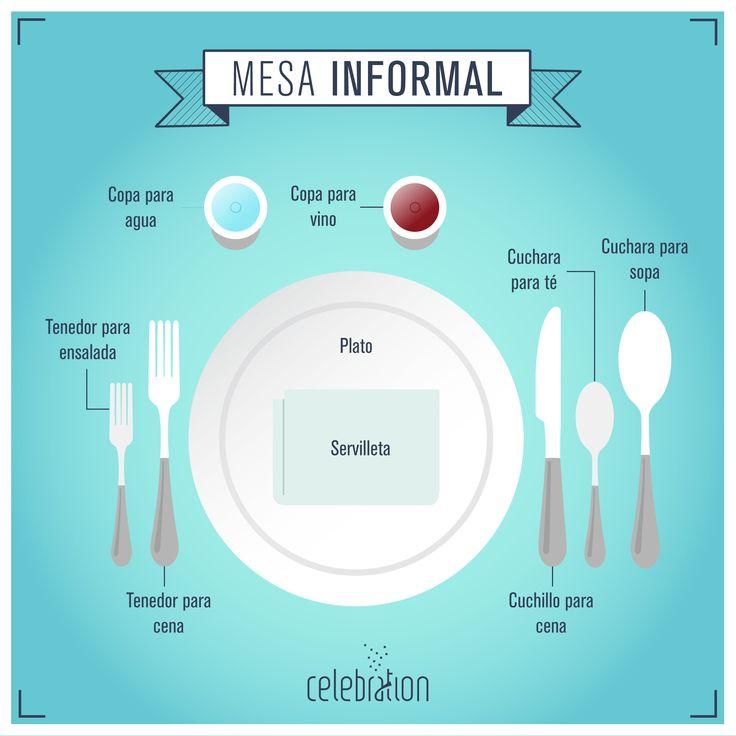 C mo arreglar una mesa informal infograf a evento for Como poner una mesa bonita