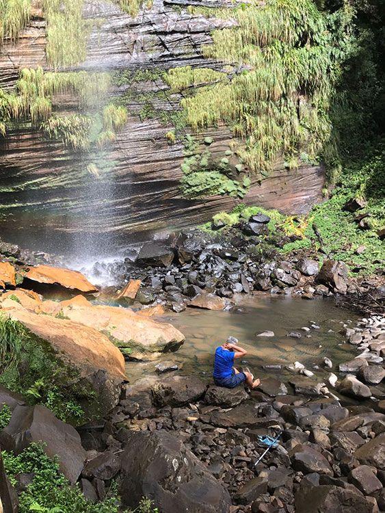 Ecoturismo: Cascata Bailarina, que fica na Pousada Cantos e Encantos, em Urubici (SP), Brasil - Foto: Mário Bonetti