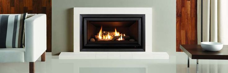 Rinnai Symmetry - Guaranteed to win compliments, our Symmetry® Gas Log fire features a panoramic orientation set within a stylish fascia that will be the envy of your guests. But the Symmetry gas log flame fire provides more than just good looks, it's a powerful heater with a highly efficient 4.2 Star energy rating. #Heating #GasHeating #Inbuilt #Rinnai #HearthHouse