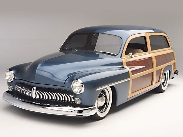 1949 Mercury Station Wagon, that blue just takes away from the wood panels. the blue needs to be darker
