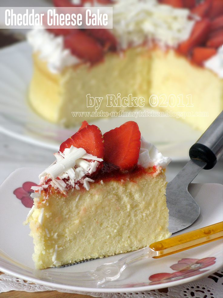 Just My Ordinary Kitchen...: CHEDDAR CHEESE CAKE FOR MY BELOVED HUSBAND