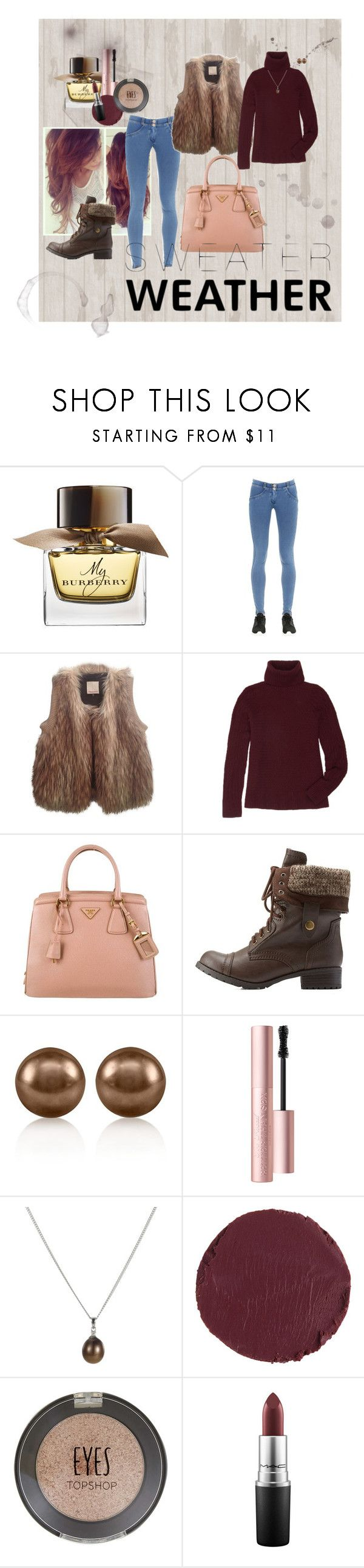 """""""Fall Style With The RealReal: Contest Entry"""" by tebowgirl-ktb on Polyvore featuring Burberry, Freddy, Rebecca Taylor, The Row, Prada, Charlotte Russe, LE VIAN, Too Faced Cosmetics, A B Davis and Kevyn Aucoin"""
