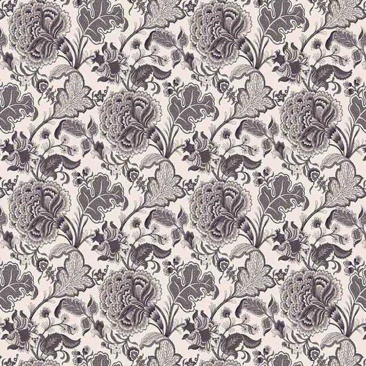 Warwick Fabrics : THORNBURY, Colour CHARCOAL