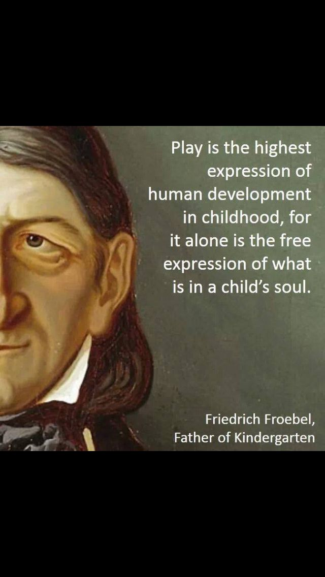 Friedrich Froebel, the father of kindergarten