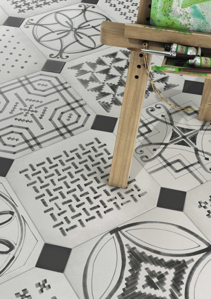 Vives presents Maison Bohème, #porcelain and white body #tiles @Vives Azulejos y Gres