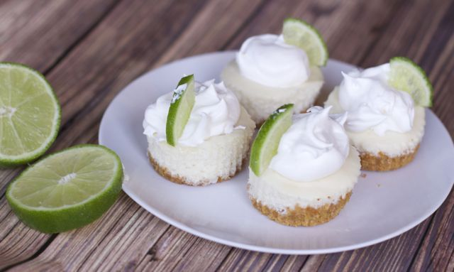 Mini key lime pies are the perfect dessert to stay on target in the new year. Mini Key Lime pies are easy and great for parties