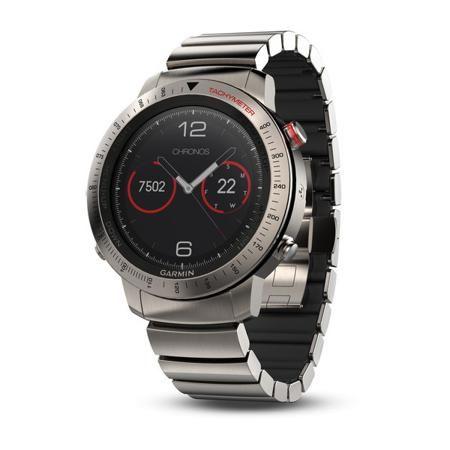 """Garmin FENIX Chronos титановый с титановым браслетом  — 125490 руб.  —  Fenix Chronos, сочетает в себе непревзойденное качество отделки с характеристиками прибора класса """"tool-watch"""" (часы-инструмент). Это прочное и надежное устройство с металлической GPS/ГЛОНАСС антенной EXO™, оптическим пульсометром Elevate™, приложениями для бега и плавания, расширенными данными для спортивных дисциплин с длительной нагрузкой, навигационные функции Garmin и интеллектуальные оповещения. Эти современные…"""