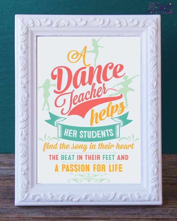 RESERVED FOR ALICIA- Dance Teacher Gift Printable -Dance Instructor Keepsake - Instant Download - Dance Recital Gift - Thank You by DancinDarling