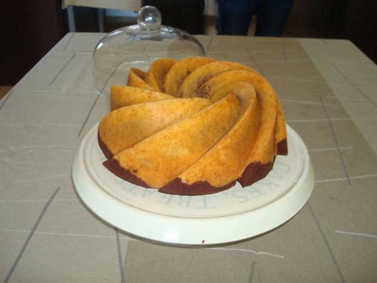 una chispa de dulzura: Bundt cake de naranja y chocolate
