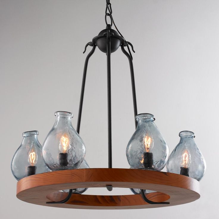 80 best images about chandeliers on pinterest transitional chandeliers shades and jute - Glass bottle chandelier ...
