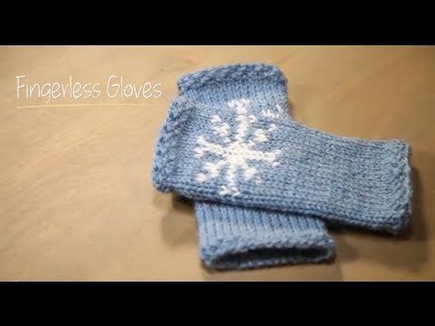 Fingerless Snowflake Gloves di Stefanie Japel - schema gratuito ~ Gomitolo di Lana: Innamorarsi del Lavoro a Maglia - Knitting