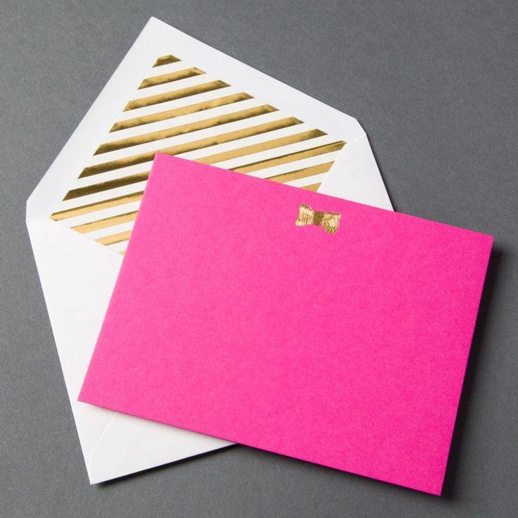 Kate Spade Gold Bow Correspondence Cards
