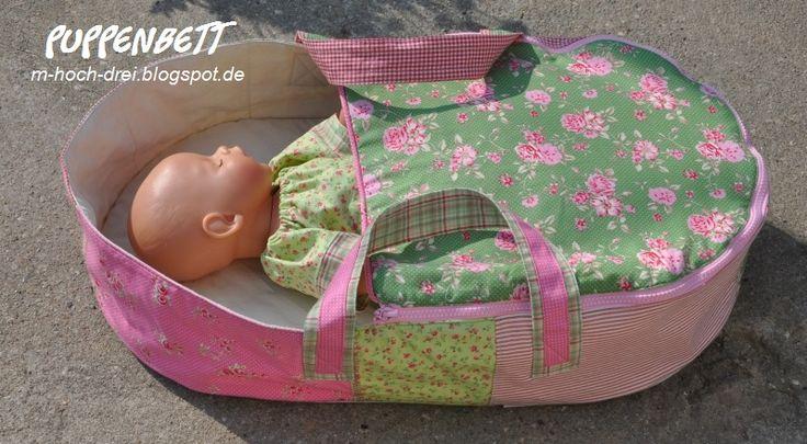 m hoch drei: Westfalenstoffe-Jubiläumschallenge #1 - FreeBook Puppenbett / -Tragetasche