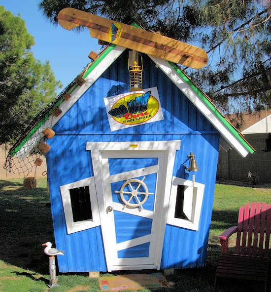 Surf Shack Luxury Outdoor Playhouse-Surf Shack Luxury