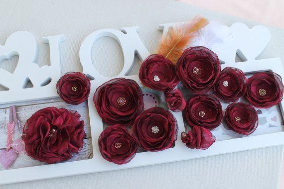 Flowers Marsala Wedding decoration light Wedding by FleursProvence
