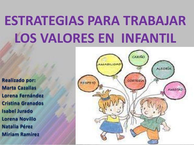 Tema 6: Estrategias para trabajar los valores en Educación ...
