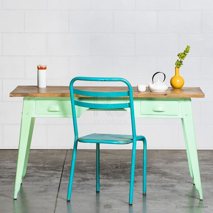 Marecellino Industrial Desk - Mint Green | $499.00