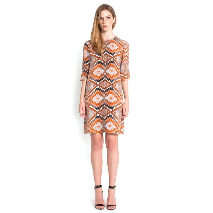 Grace Dress - Orange Kilim