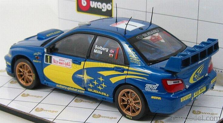 BURAGO 3905 Масштаб 1/18  SUBARU IMPREZA WRC N 1 RALLY MONTECARLO 2004 SOLBERG - MILLS BLUE MET