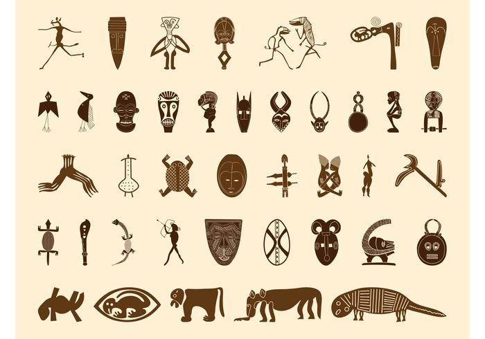 Símbolos africanos Gráficos