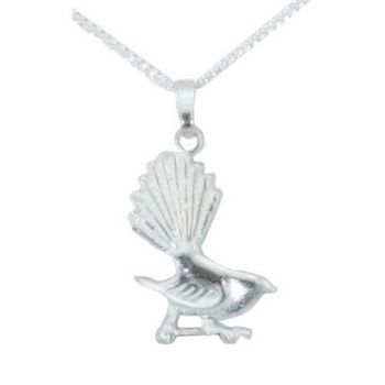 New Zealand Sterling Silver Fantail Pendant
