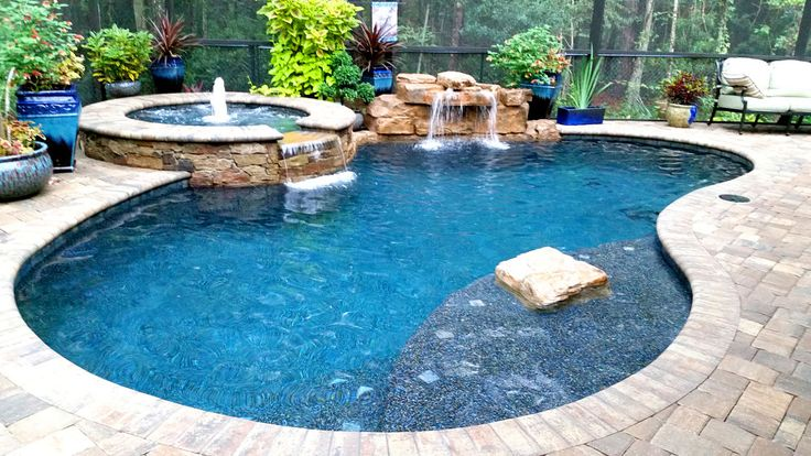 1000 ideas about pool waterfall on pinterest pool - Swimming pool water fountain kits ...