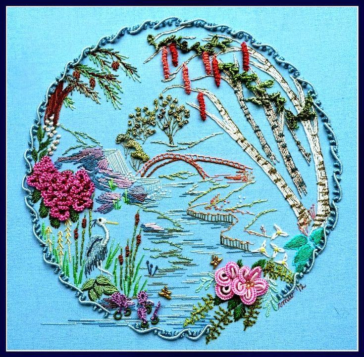 RosalieWakefield-Millefiori: The Continuous Drizzle - A New Brazilian Dimensional Embroidery Stitch Technique