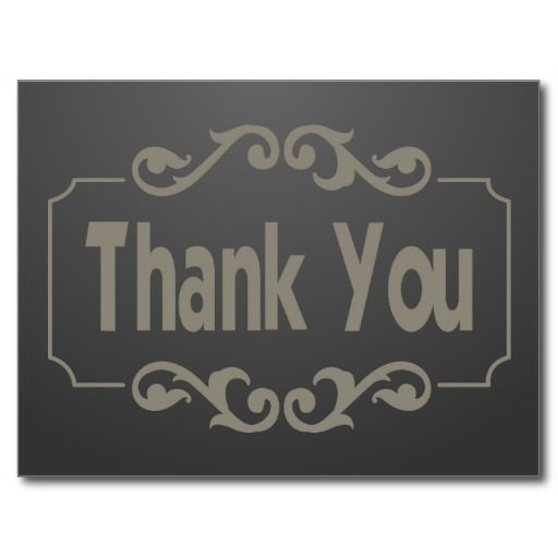 Gray Thank You Post Card