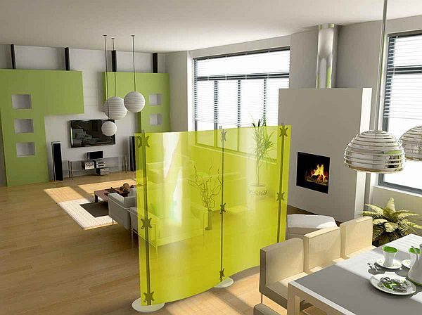 Dividing a large living room..: Decor Ideas, Living Rooms, Small Apartment, Studios Apartment, Modern Rooms, Interiors Design, Apartment Ideas, Rooms Dividers, Modern Interiors