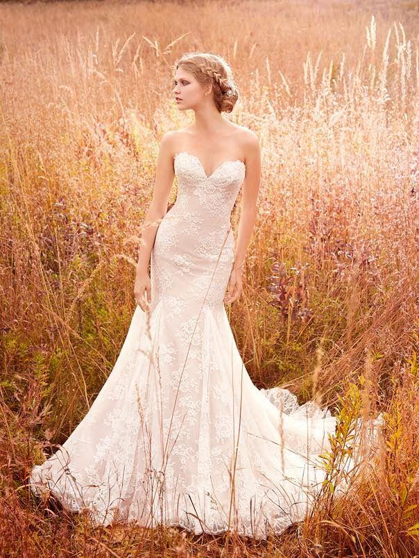 Elegant mermaid Jim Hjelm wedding dresses