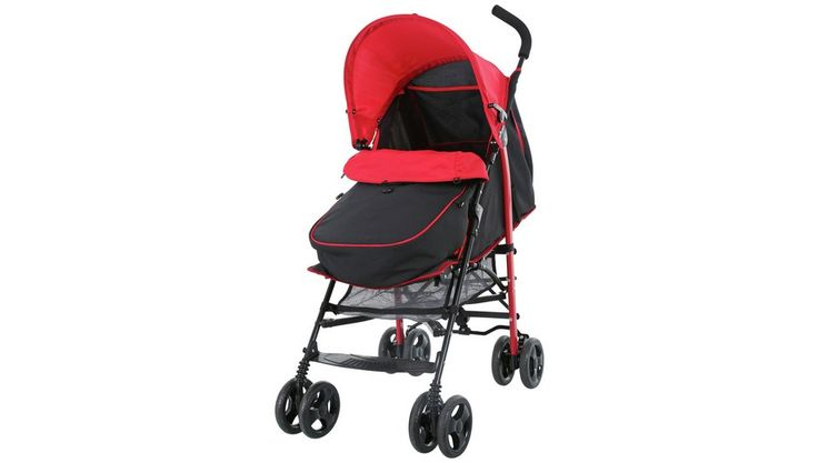Fisher-Price Black and Red Pushchair with Footmuff - http://www.anrdoezrs.net/links/8279980/type/dlg/http://www.argos.co.uk/product/4113412