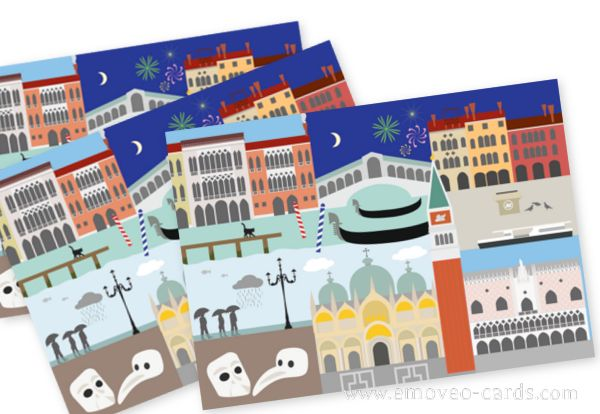 Venice is Magic! by e-MoVeo Cards Postkarten Cartolina  #Venezia #Venedig #Venice www.emoveo-cards.com