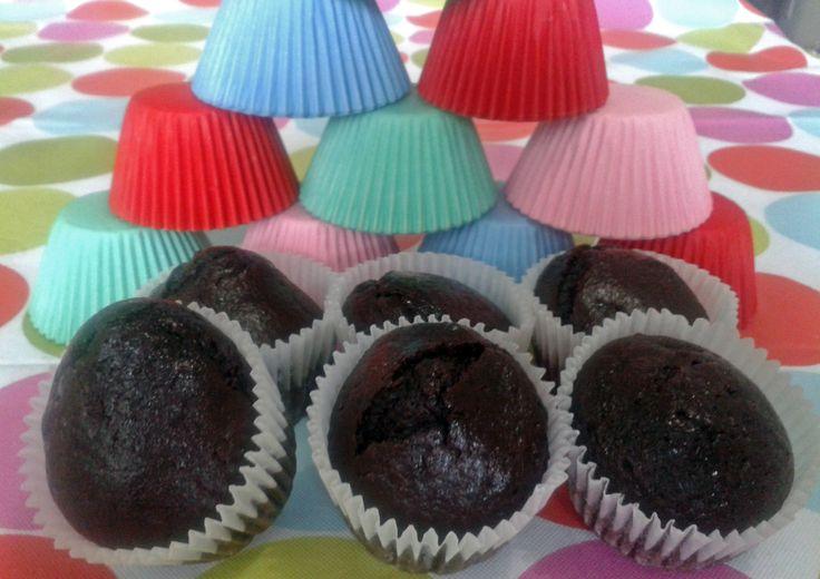 Muffins de chocolate veganos