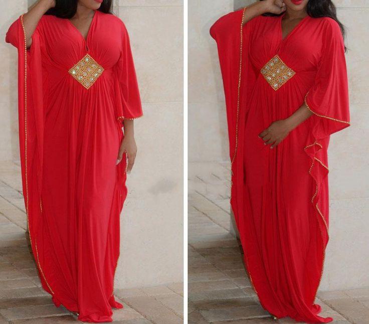 New Arrival V Neck Long Sleeve African Chiffon Muslim Prom Dresses Arabic Beaded With Gold Rhinestones Dubai Kaftan Evening Gown Cheap Prom Dresses Online Cheap Red Prom Dresses From Yaya01, $109.54| Dhgate.Com
