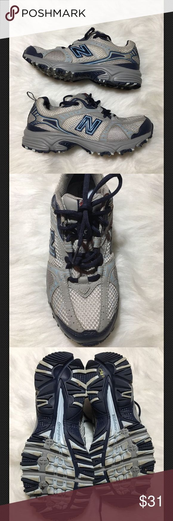 New Balance 461 All Terrain Running Sneakers 7.5 New Balance  461 All Terrain Running Sneakers Shoes Gray Blue  Wms 7 1/2 B  Trail Running style Good used condition. Ultra soft comfort insert footbed. New Balance Shoes Sneakers