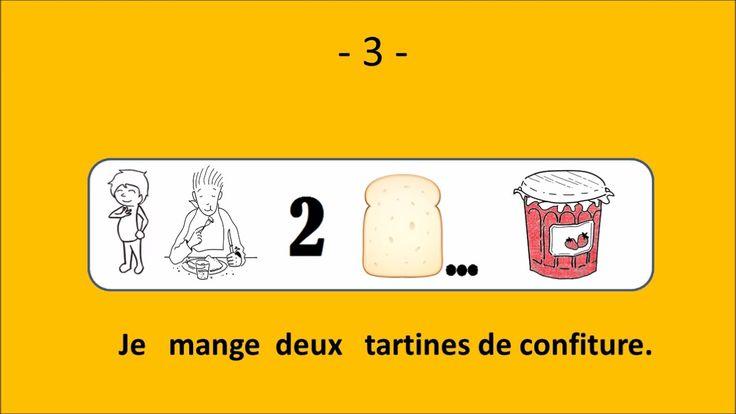 Le français illustré numéro 88 : Un petit-déjeuner / Le matin, avant d'aller travailler … … je bois un grand bol de café ou de thé. Je mange deux tartines de confiture. J'aime beaucoup la confiture de fraises. Mais le week-end, je mange des croissants. Un croissant avec de la confiture de cassis, c'est délicieux. Pendant mon petit-déjeuner, j'écoute aussi la radio.