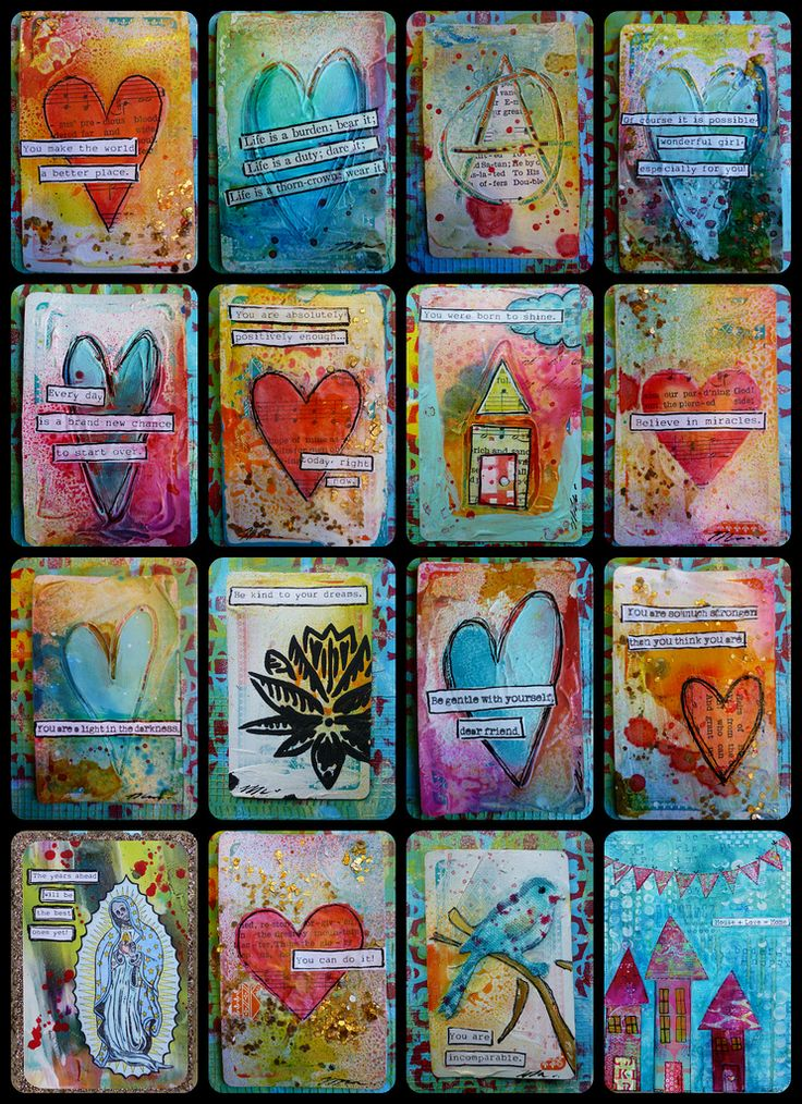 Recycled Mixed Media Plying Cards tutorial, Made by Nicole (I LOVE USING PLAYINGCARDS for minibooks/ stuff)