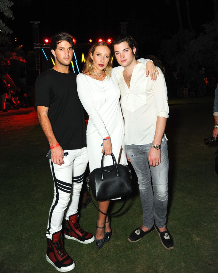 Instagram darlings Peter Brant Jr., Gaia Matisse and Andrew Warren at the Nautilus South Beach for the @flauntmagazine Art Issue Party #GUESSAllAccess #GUESSLife