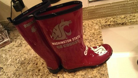 oh my god! where was Etsy when I was in school?!? WSU Cougar Wellies