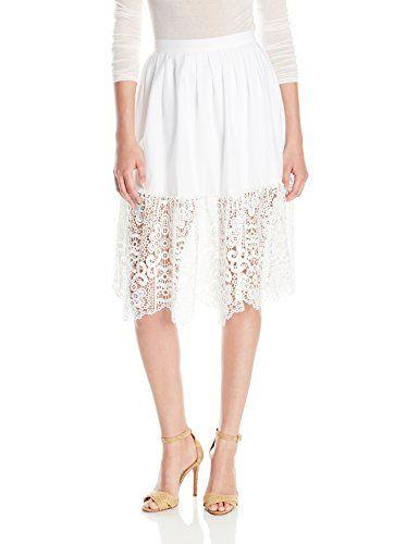 Parker Women's Tesla Combo Skirt, White, 4 Parker http://amzn.to/2zdMcrL