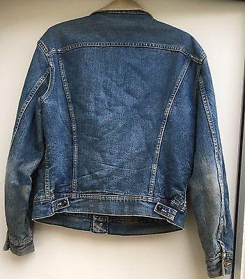 Vintage Lee Storm Rider Jean Jacket Denim Jacket Blanket Lined Made In USA
