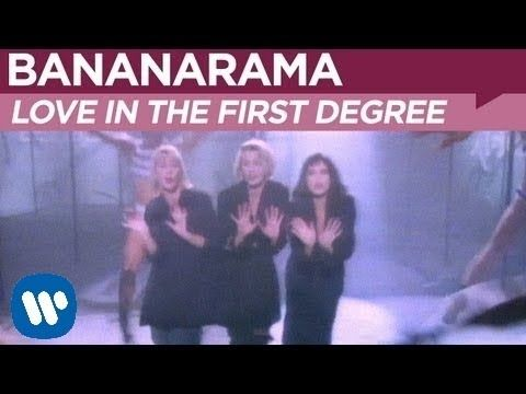 Love in the first degree Bananarama. The uptempo pop song was first composed by Siobhan Fahey and musically based on the German composer Johann Pachelbel's Canon. The rest of the group's members Sara Dallin and Keren Woodward along with producers SAW built upon the original idea.