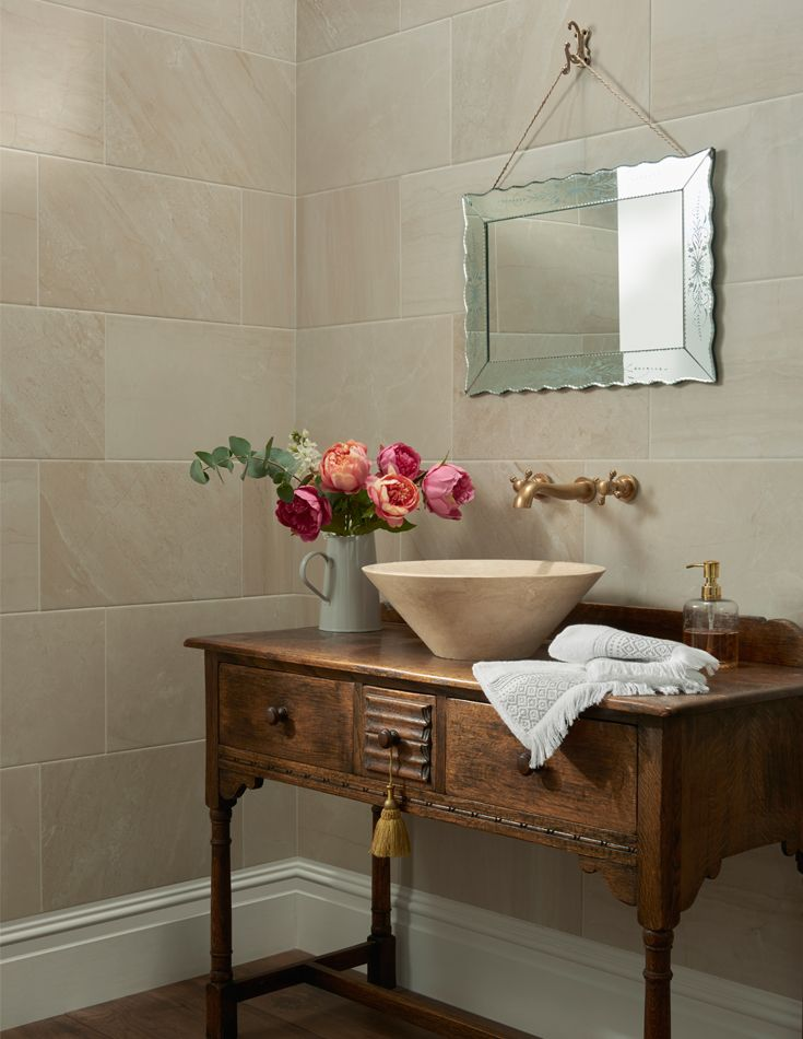 cost of tile for bathroom floor%0A Produced in the UK exclusively for Topps Tiles  these large format ceramic  tiles allow you