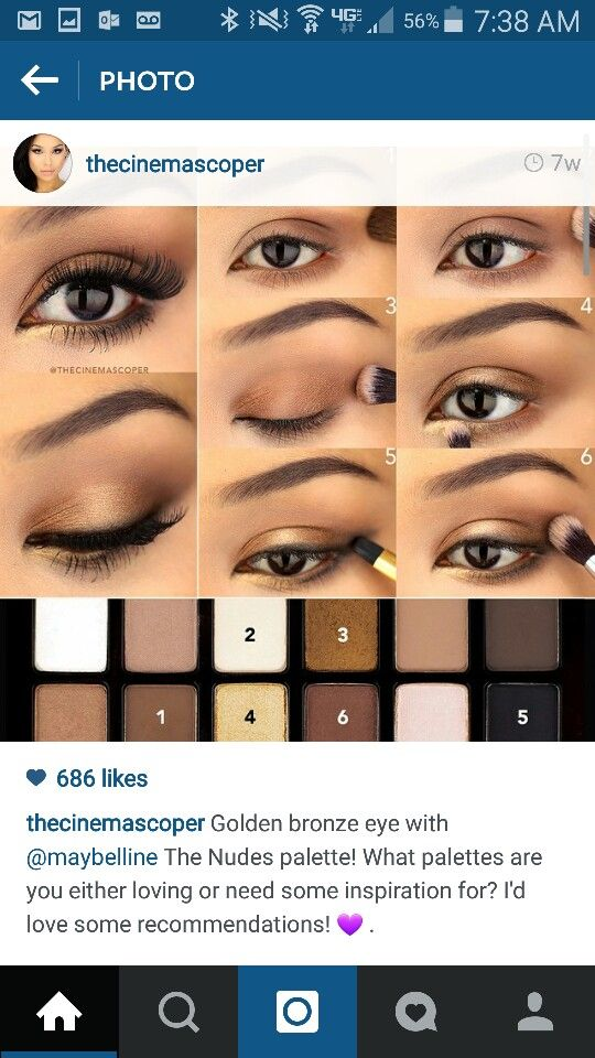 Golden Bronze Brown Eyeshadow