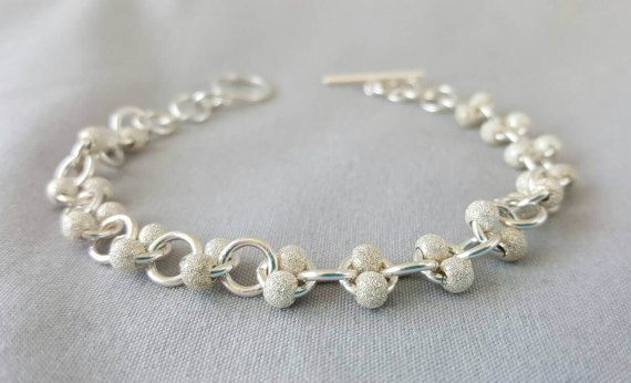 Check out this item in my Etsy shop https://www.etsy.com/ca/listing/483887226/stardust-sterling-silver-beaded-bracelet