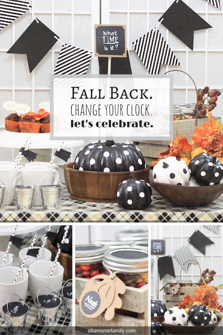 Fall Back Time Change Party Table Ideas #fall #fallparty #party #falldecor