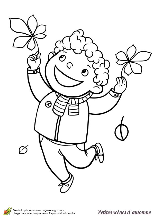 17 best images about coloriages enfants on pinterest - Dessin feuille morte ...