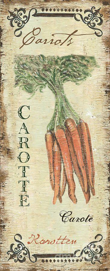 Vintage Vegetables 4 Painting  - Vintage Vegetables 4 Fine Art Print